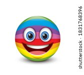 cute emoticon isolated on white ... | Shutterstock .eps vector #1831768396
