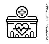 medical container for heart... | Shutterstock .eps vector #1831769686