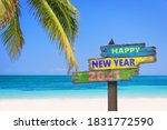 Hapy New Year 2021 On A Colored ...
