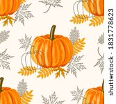 Seamless Pattern With Leaves...