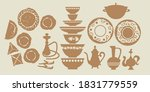 middle east food and dishes... | Shutterstock .eps vector #1831779559