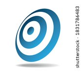 round shield with blue and... | Shutterstock .eps vector #1831786483