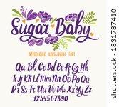 kids font. typography alphabet... | Shutterstock .eps vector #1831787410