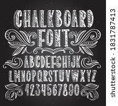 chalkboard font. typography... | Shutterstock .eps vector #1831787413