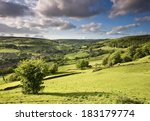 Green Sunlit Valley In The...