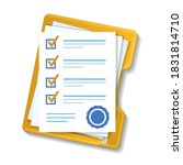 contractual documents. a... | Shutterstock .eps vector #1831814710