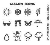 Season Icons  Mono Vector...