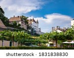 Nyon castle on the shores of Lake Geneva, Switzerland