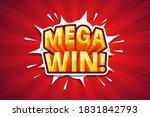 mega win   font expression pop... | Shutterstock .eps vector #1831842793
