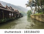 rafting accommodation in river... | Shutterstock . vector #183186650