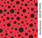 pattern seamless with ladybug.... | Shutterstock .eps vector #1831875490
