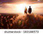 young couple enjoying the... | Shutterstock . vector #183188573