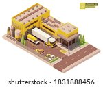 Vector Isometric Supermarket...