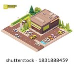 vector isometric supermarket...   Shutterstock .eps vector #1831888459