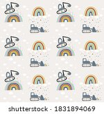 seamless pattern of the... | Shutterstock .eps vector #1831894069