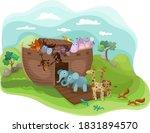 Noah's Arc Illustration With...