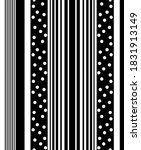 black and white line and polka ... | Shutterstock . vector #1831913149