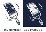 brush draws universe tattoo and ... | Shutterstock .eps vector #1831935376