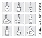 vector illustration set bottles ... | Shutterstock .eps vector #1831958080