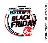 black friday flyer and banner...   Shutterstock .eps vector #1831965883