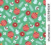 seamless pattern for christmas... | Shutterstock .eps vector #1831984069