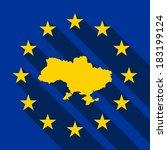 flag of europe  flag of... | Shutterstock .eps vector #183199124