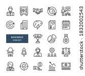 simple set of business line... | Shutterstock .eps vector #1832002543