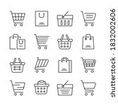 simple set of shopping cart... | Shutterstock .eps vector #1832002606