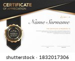 certificate template black and...   Shutterstock .eps vector #1832017306