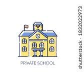 private school rgb color icon.... | Shutterstock .eps vector #1832022973
