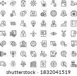 thin outline vector icon set... | Shutterstock .eps vector #1832041519