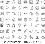 Thin Outline Vector Icon Set...