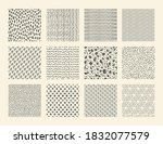 hand drawn textures. seamless... | Shutterstock . vector #1832077579
