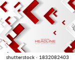 red and grey tech abstract...   Shutterstock .eps vector #1832082403