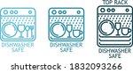 dishwasher safe icon   three  3 ... | Shutterstock .eps vector #1832093266