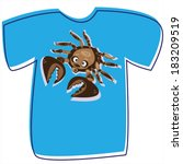 t shirt with a crab on white...   Shutterstock .eps vector #183209519