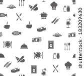 restaurant seamless pattern | Shutterstock .eps vector #183209630
