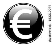 euro button on white background. | Shutterstock .eps vector #183210074
