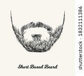 short boxed beard. simple...   Shutterstock .eps vector #1832111386