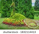 Flower Peacock Sculpture. The...