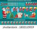 christmas santa claus character ... | Shutterstock .eps vector #1832115019
