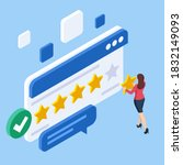 isometric customer review or... | Shutterstock .eps vector #1832149093