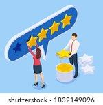 isometric customer review or...   Shutterstock .eps vector #1832149096