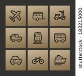 transport web icons  buttons set | Shutterstock .eps vector #183215000