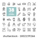 winter vector icon set. graph...