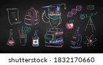 vector color chalk drawn... | Shutterstock .eps vector #1832170660