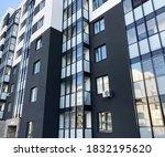closeup part of new building.... | Shutterstock . vector #1832195620