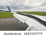 Airplane Wing With Flaps And...