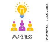 brand awareness icon.... | Shutterstock .eps vector #1832198866