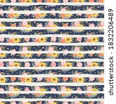 seamless pattern with flowers ...   Shutterstock .eps vector #1832206489